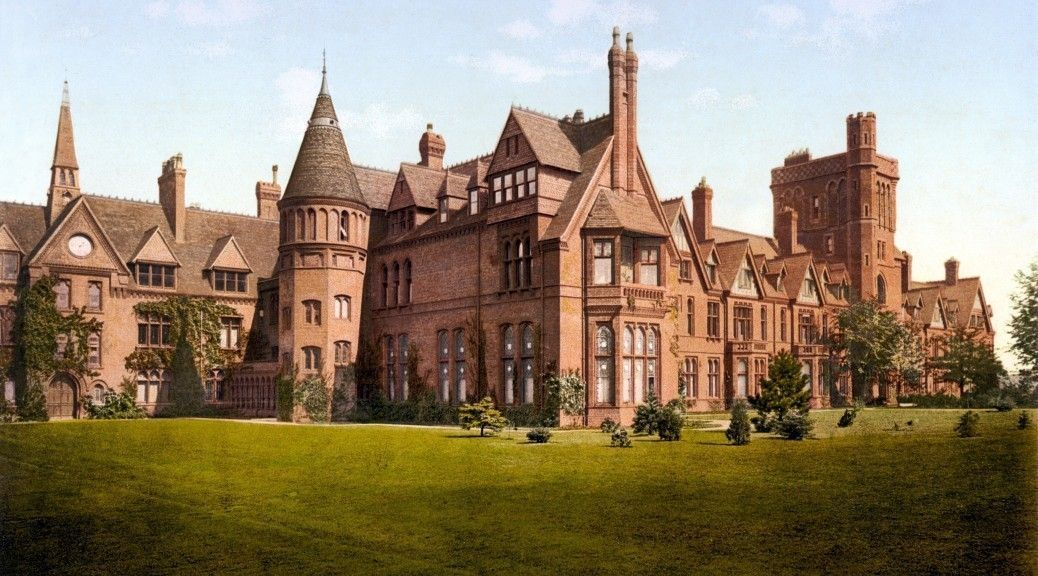 A postcard depicting Girton College Cambridge England circa. 1890s