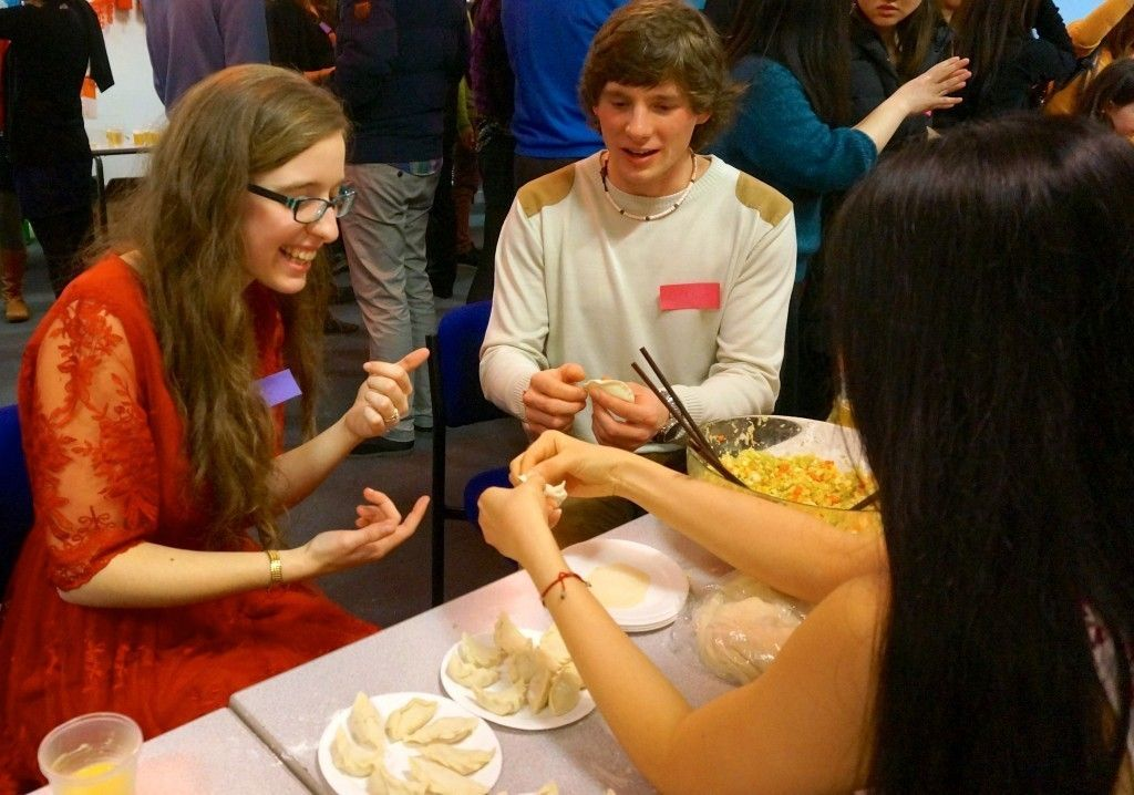 Birkbeck Chinese Society - dumpling making - New Year Celebration 2014