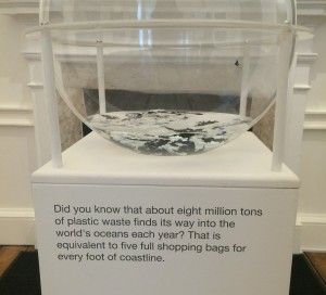 Plastic waste in the ocean